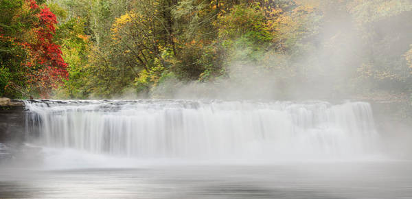 Wall Art - Photograph - Panoramic Autumn View Of Hooker Falls by Adam Jones