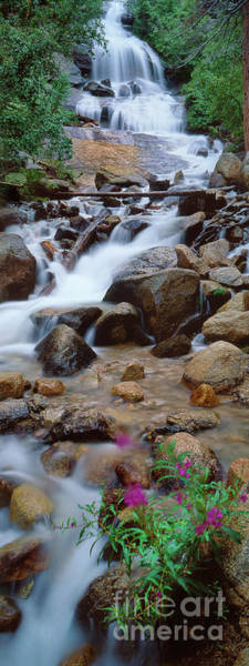 Photograph - Panoramic Cataract Stream Whitney Portal Mount Whitney California by Dave Welling