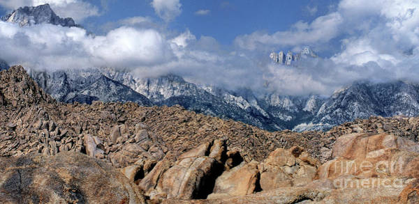 Photograph - Panoramic Clearing Storm Alabama Hills Eastern Sierras California by Dave Welling