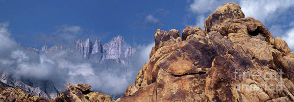 Photograph - Panoramic Clearing Storm Mount Whitney Alabama Hills California by Dave Welling