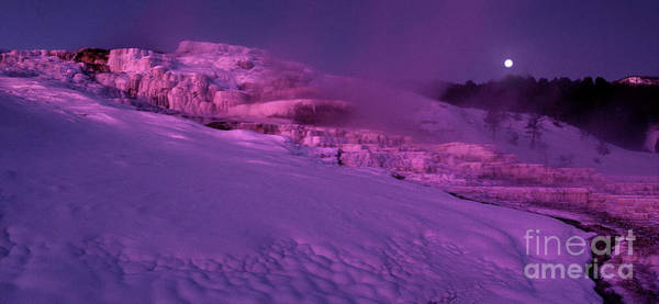 Photograph - Panoramic Dawn Alpenglow On Minerva Springs Yellowston by Dave Welling