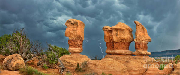 Photograph - Panoramic Lightning In Devils Garden Escalante Grand S by Dave Welling