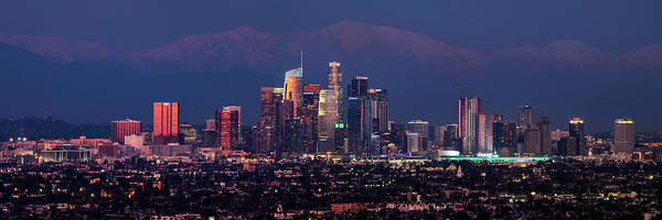 Photograph - Panoramic Los Angeles At Night by Kelley King