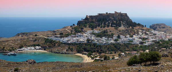 Dodecanese Photograph - Panoramic Overview Of Town And by Christer Fredriksson