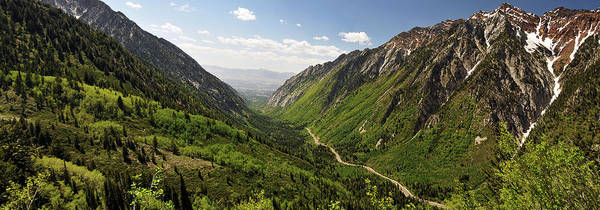 Little People Photograph - Panoramic Shot Of Little Cottonwood by Utah-based Photographer Ryan Houston