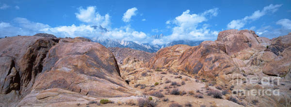 Photograph - Panoramic Storm Clouds Alabama Hills Eastern Sierras California by Dave Welling
