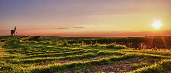 Warwickshire Photograph - Panoramic Sunset Of Chesterton Windmill by Verity E. Milligan