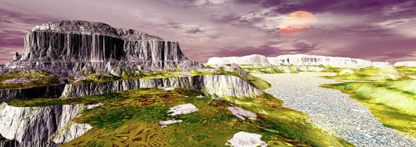 Remote Digital Art - Panoramic View. Be There. Digitally by Raj Kamal