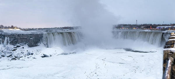 Photograph - Panoramic View Niagara Falls by Nick Mares