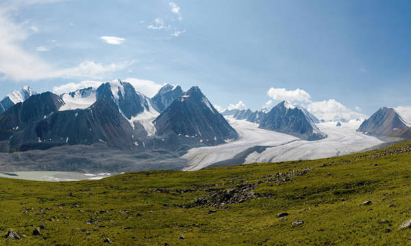Wall Art - Photograph - Panoramic View Of Altai Mountains And by Halstenbach