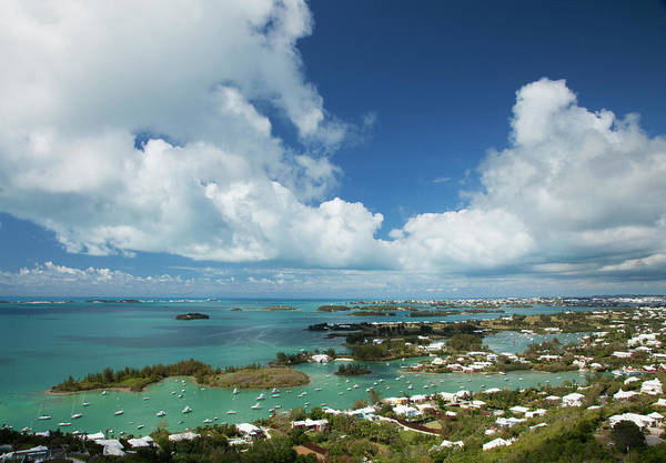 Bermuda Photograph - Panoramic View Of Bermuda, Towards by Elisabeth Pollaert Smith