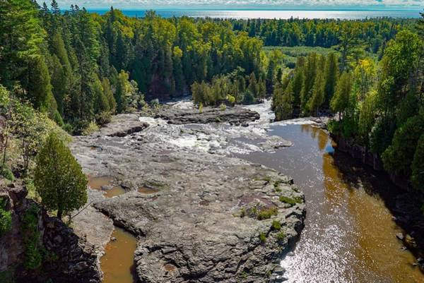 Photograph - Panoramic View Of Gooseberry Falls by Susan Rydberg