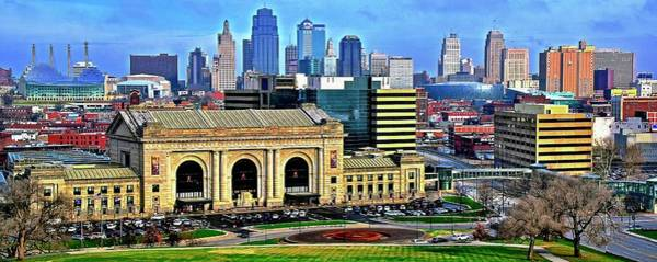 Wall Art - Photograph - Panoramic View Of Kc by Frozen in Time Fine Art Photography