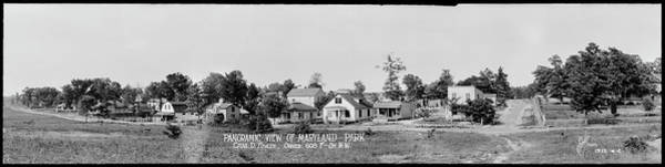 Wall Art - Photograph - Panoramic View Of Maryland Park , 1913 by Fred Schutz Collection