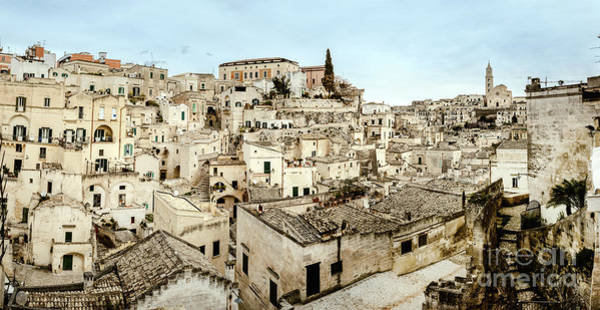 Photograph - Panoramic View Of Matera Sassi Di Matera With Its Steep Ancient Stone Streets European Capital Of Cu by Joaquin Corbalan