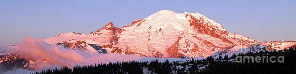Wall Art - Photograph - Panoramic View Of Mount Rainier At Sunrise by Douglas Taylor
