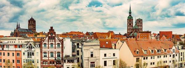 Wall Art - Photograph - Panoramic View Of Stralsund, Germany. by Michal Bednarek