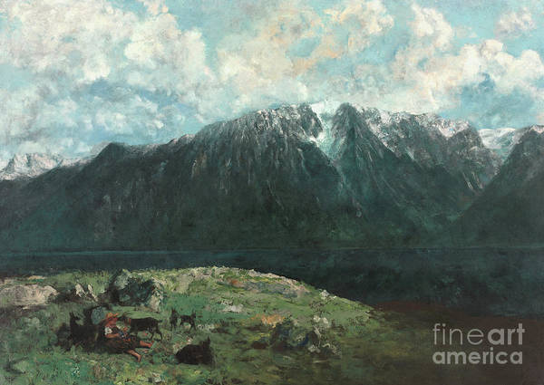 Wall Art - Painting - Panoramic View Of The Alps, Les Dents Du Midi, 1877 by Gustave Courbet