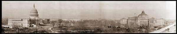 Wall Art - Photograph - Panoramic View Of U.s. Capital Grounds by Fred Schutz Collection