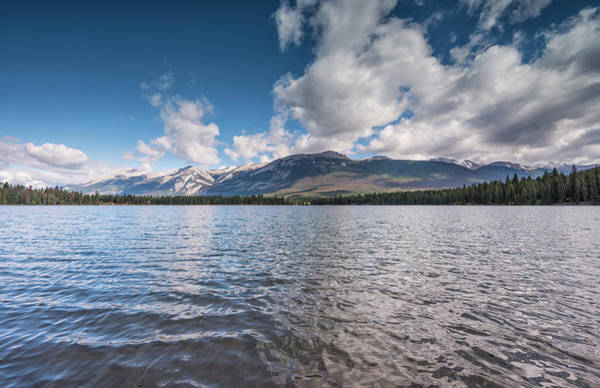 Wall Art - Photograph - Panoramic Views Over Edith Lake Jasper National Park Rocky Mountains Alberta Canada by imageBROKER - Marco Bittel