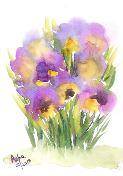 Wall Art - Painting - Pansies by Asha Sudhaker Shenoy