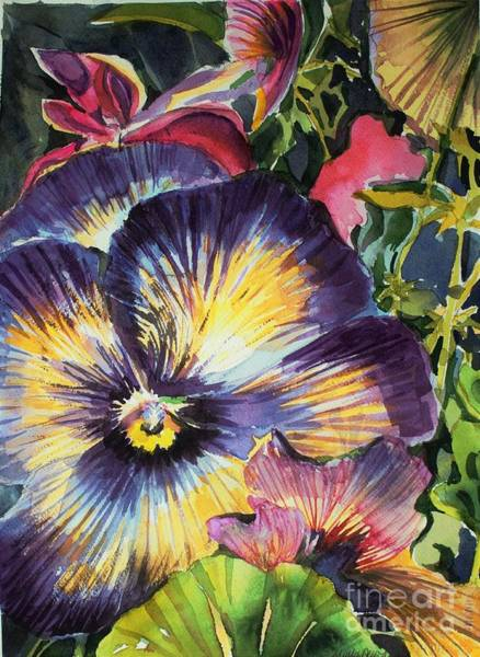 Wall Art - Painting - Pansy Paradise by Mindy Newman