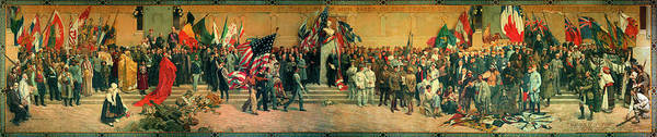 Wall Art - Painting - Pantheon De La Guerre by French artists