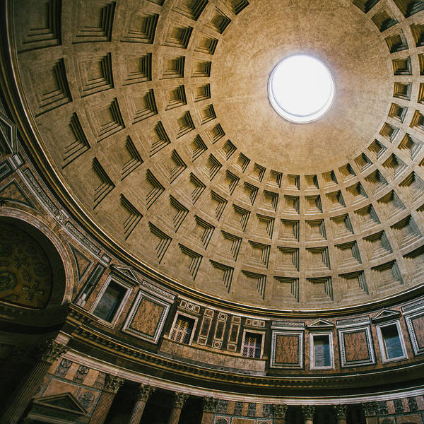 Photograph - Pantheon Dome Interior by Dave Bowman