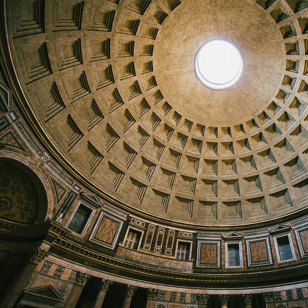 Pantheon Wall Art - Photograph - Pantheon Dome Interior by Dave Bowman