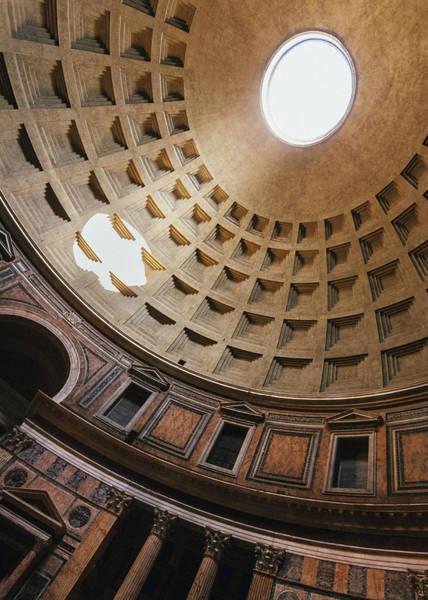 Photograph - Pantheon Dome Sunbean by Dave Bowman