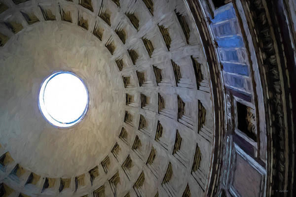 Wall Art - Photograph - Pantheon In Rome by Tony Grider