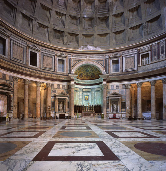 Rotunda Photograph - Pantheon Interior, Rome by James Gritz
