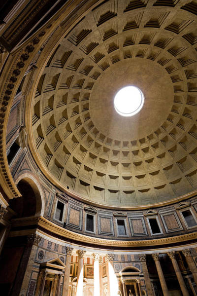 Ancient Photograph - Pantheon Rome Italy by Laughingmango