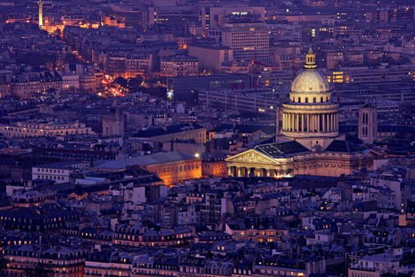 Pantheon Wall Art - Photograph - Pantheon Twilight In Paris by James Burns