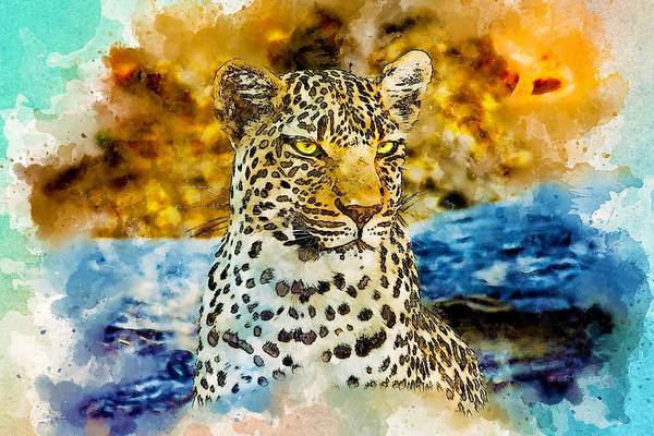Jaguar Painting - Panther by ArtMarketJapan
