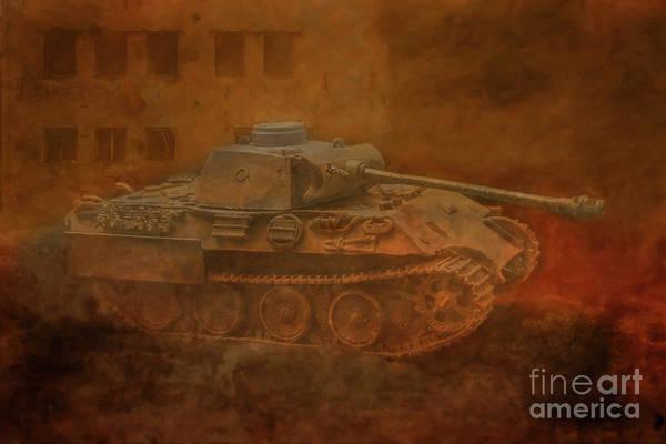 Wall Art - Digital Art - Panther Tank On The Prowl  by Randy Steele