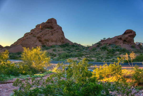 Photograph - Papago Park Mountain by Ants Drone Photography