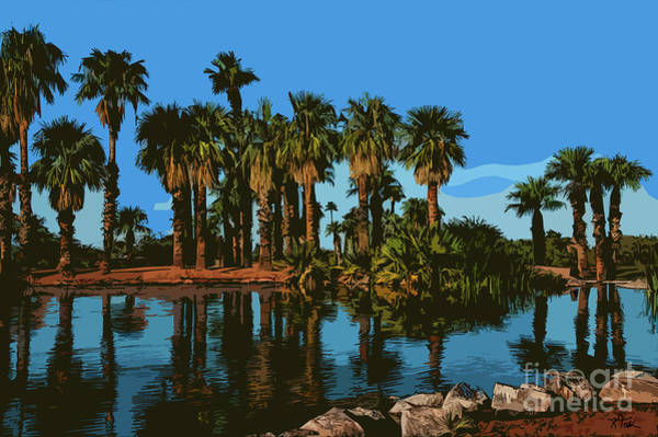 Digital Art - Papago Park Palms by Kirt Tisdale