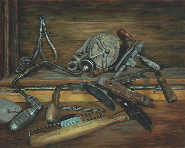 Painting - Papa's Tools by Alice Betsy Stone