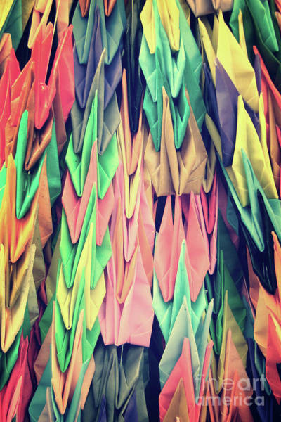Wall Art - Photograph - Paper Cranes by Delphimages Photo Creations