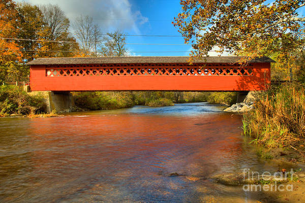 Photograph - Paper Mill Covered Bridge  by Adam Jewell