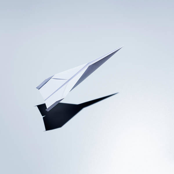 Taking Off Photograph - Paper Plane Taking Off by Jorg Greuel