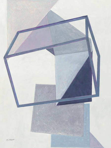 Cube Painting - Paper Trail IIi Crop by Mike Schick