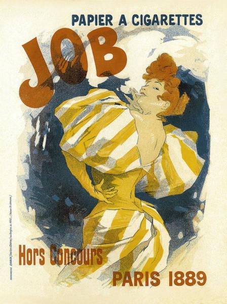 Painting - Papier A Cigarettes Vintage French Advertising by Vintage French Advertising