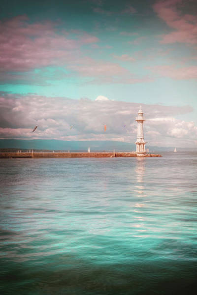 Carp Photograph - Paquis Lighthouse Geneva by Carol Japp
