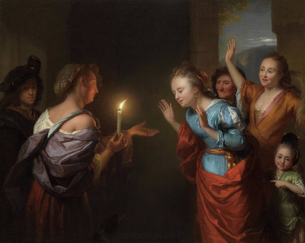 Wall Art - Painting - Parable Of The Lost Piece Of Silver by Godefridus Schalcken