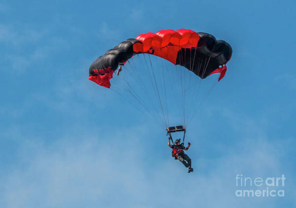 Photograph - Parachute Jumper by Tom Claud