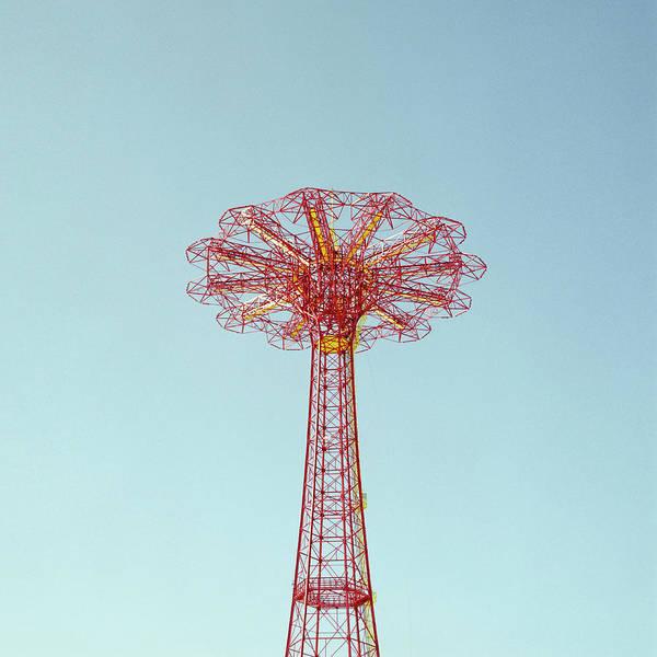 Parachute Tower Against Sky Art Print