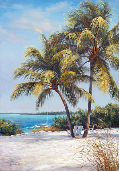 Sea Oats Painting - Paradise Beach  by Laurie Snow Hein