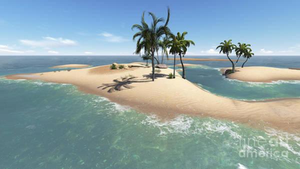 Palm Trees Digital Art - Paradise Island For Two by Jovan Vitanovski